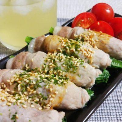 小松菜ともやしの豚肉巻き