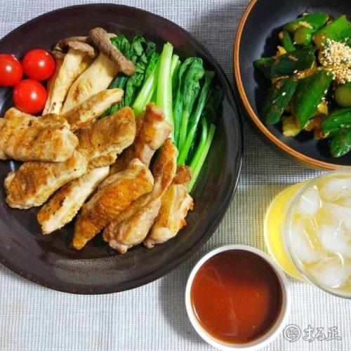 鳥焼き定食 鶏肉2種を丁寧に焼き上げ