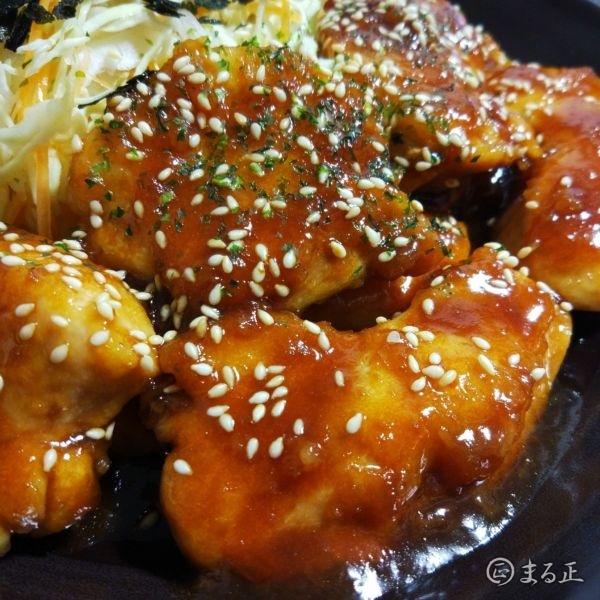 鶏もも肉の生姜焼きドアップ