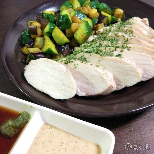 炊飯器で鶏むね肉の低温茹で鶏