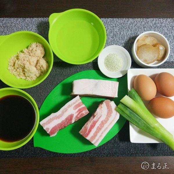 豚の角煮の材料