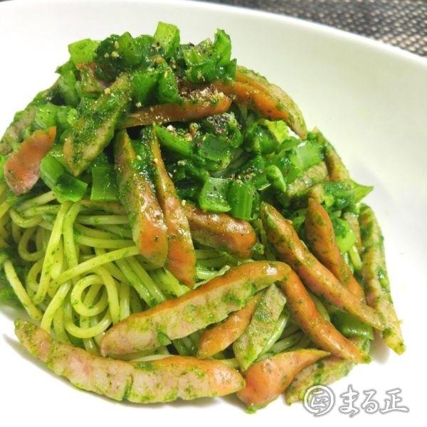 写真:小松菜のパスタ