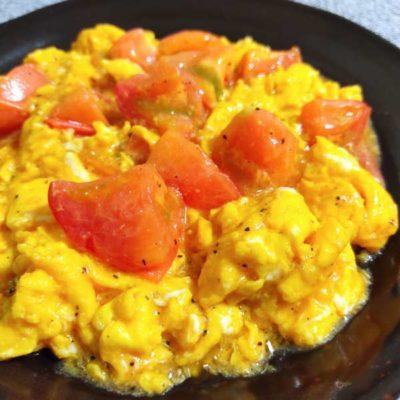 写真:トマトと卵の中華風炒め