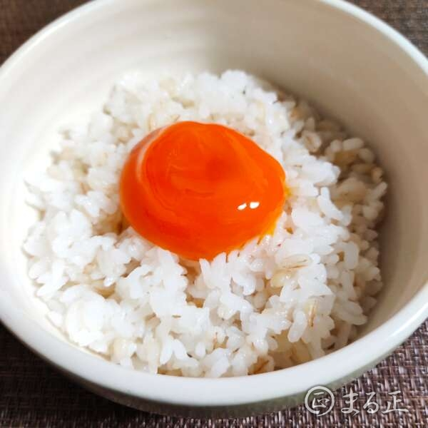 写真:黄身のだし醤油漬けのせご飯